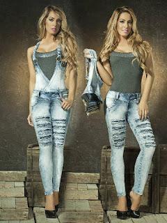 jardineira jeans