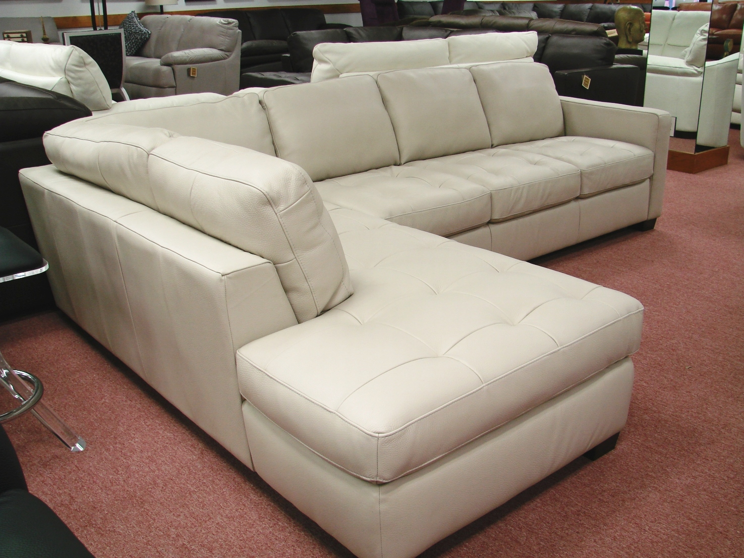 Natuzzi leather sofas sectionals by interior concepts for Leather sectional sofa