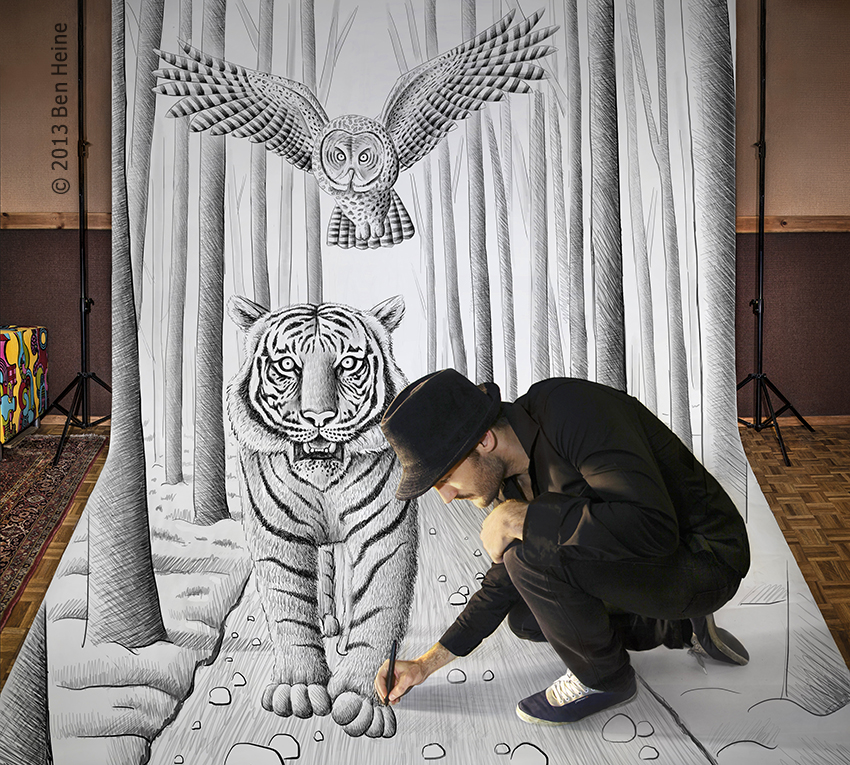 Ben heine art and music blog pencil vs camera 74 for Easy and amazing drawings