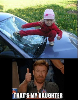 Funny picture daughter of Chuck Norris