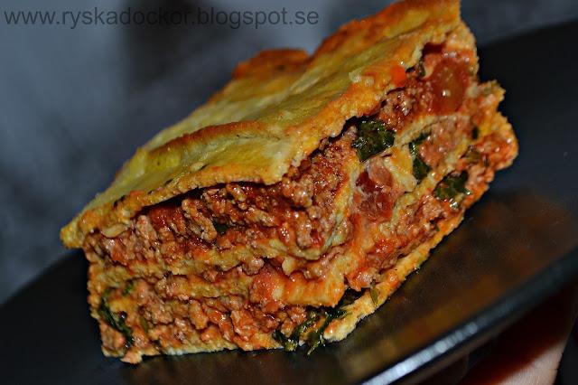 En till variant på lasagne. Utan guten, stärkelse och komjölk :)