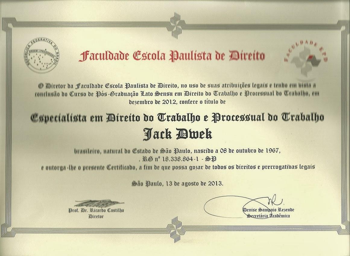 Certificado de Conclusão EPD