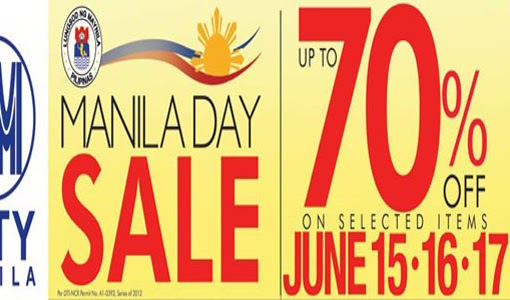 Sale Alert: Manila Day Sale at SM City Manila Starts Today!