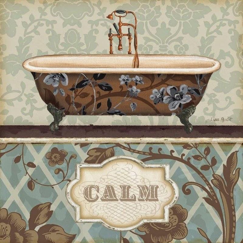 Laminas Baño Vintage:láminas découpage – Baño – Bathroom