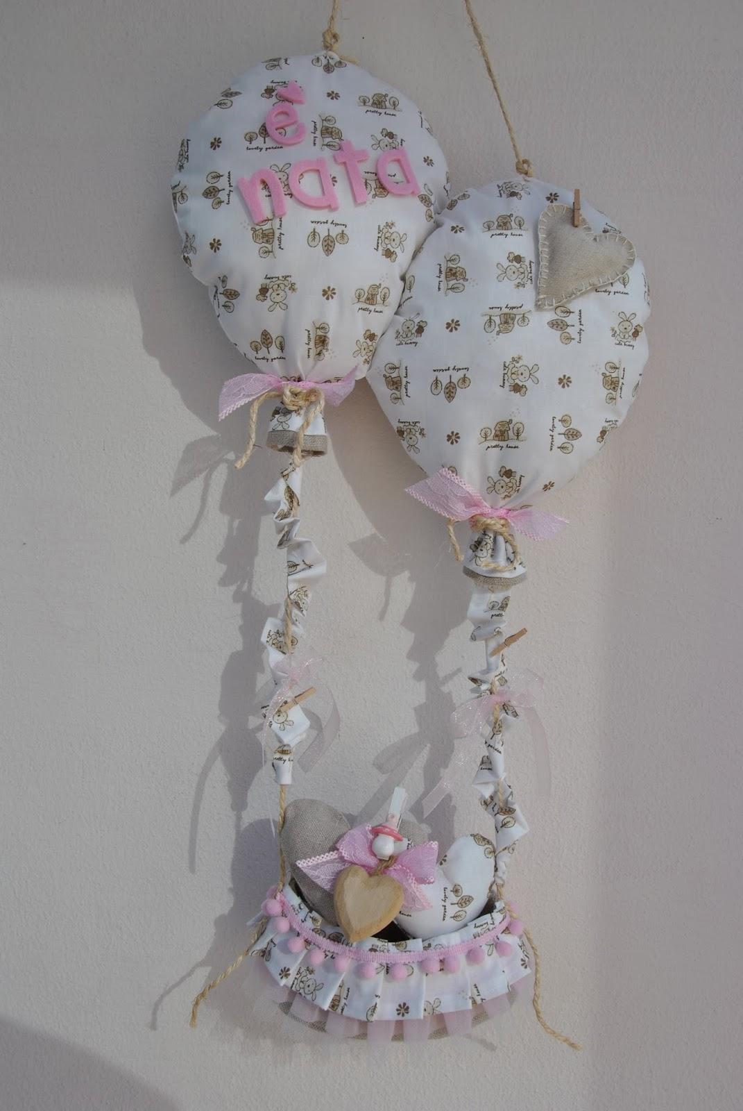 Estremamente Bikico Handmade Creations: Fiocco nascita neutro palloncini TF18