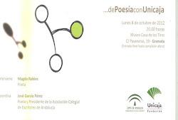 ...de Poesía con Unicaja. De la mano de D. José García Pérez