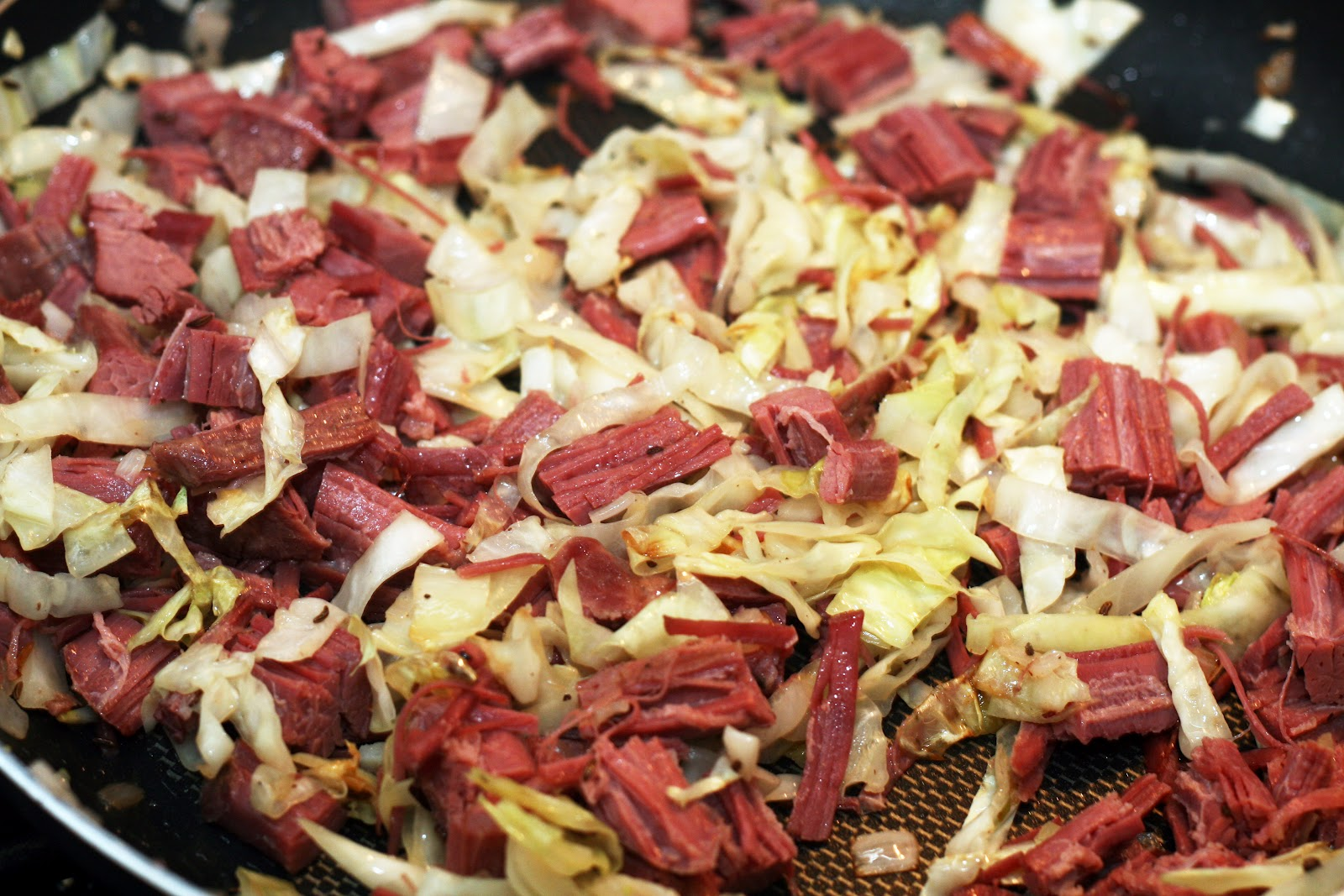Coconut lime recipes by rachel rappaport corned beef and melt the butter in a large skillet saute the cabbage shallot and caraway seeds until the cabbages softens add the corned beef and cook for 1 minute ccuart Gallery