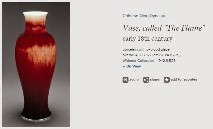 oxblood glazed vase with white highlights