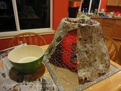 paper mache in process
