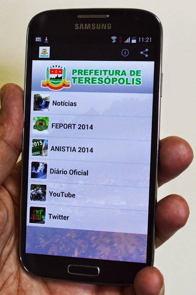 Teresópolis em suas mãos: Prefeitura lança aplicativo de celular