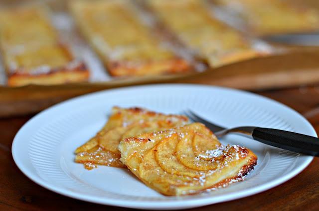 Rezept für Apfeltarte mit Blätterteig ganz einfach
