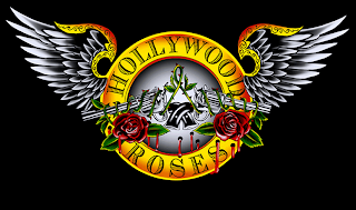 Guns N' Roses naam herkomst - Hollywood Roses logo