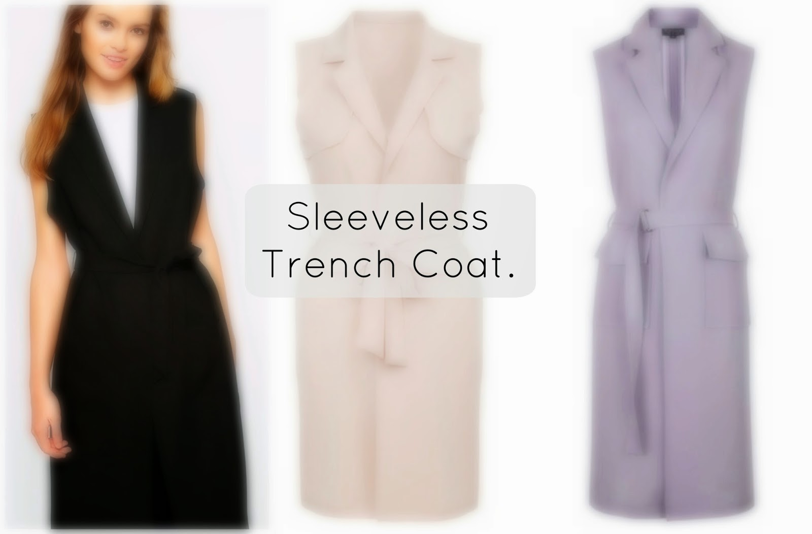 sleeveless trench coat trend