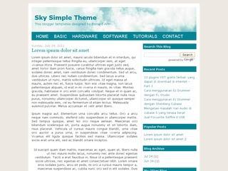 Sky Simple Theme
