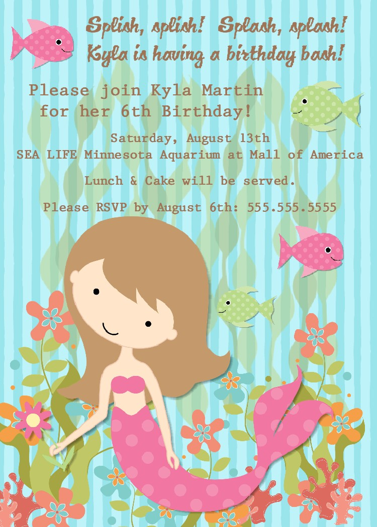 Mermaid Birthday Party Invitations absolutely amazing ideas for your invitation example