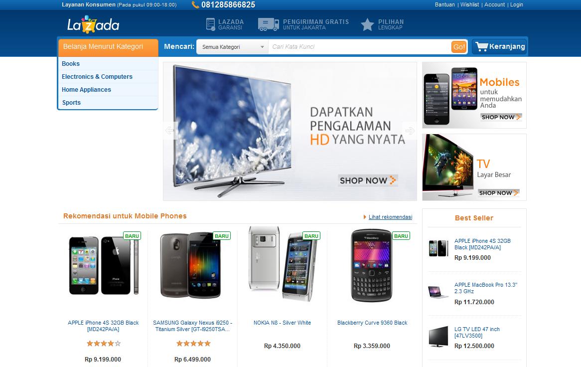 Lazada Situs E Commerce Asing Di Indonesia Jeanot Nahasan