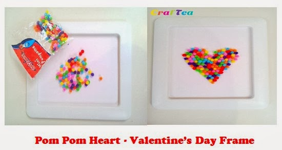 Kids\' Pom Pom Craft - Valentine\'s Day Pom Pom Heart in a Frame | Get ...