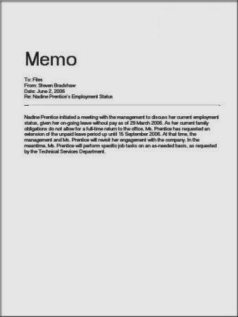 Kumpulan Contoh Surat MEMO dalam Bhs Inggris dan Indonesia ...