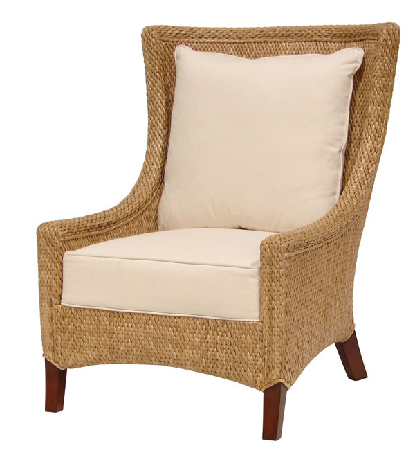 How About This Classic Shape For Places Where Rattan Is In Order. The  Soleil Wing Chair From Palecek. See One Can Still Have A Wing Chair In The  Solarium.