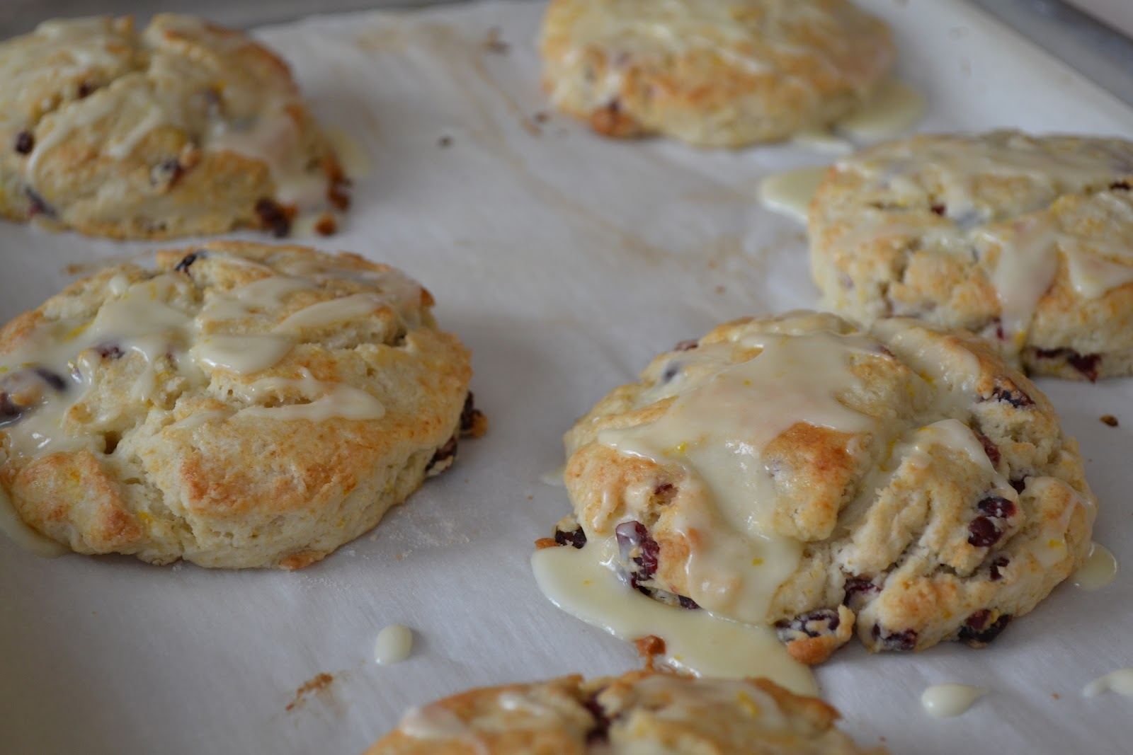 Live... Bake... Love...: Cranberry Orange Scones w/Orange Glaze