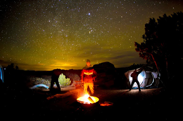 A long exposure at the Devil's Garden campground in Arches National Park.