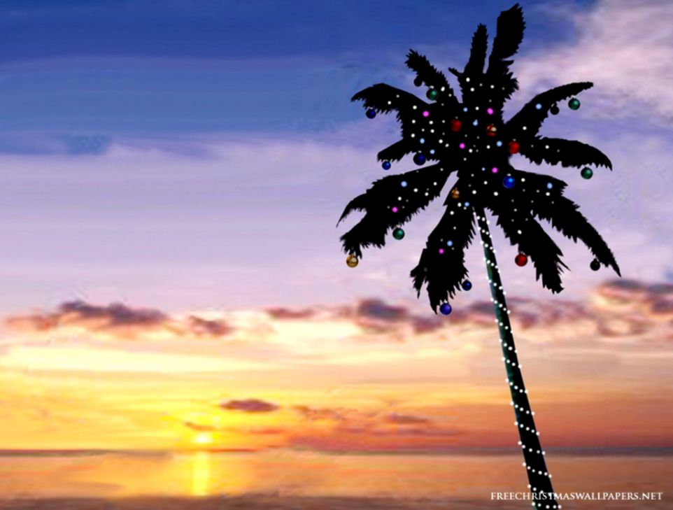 view original size - Beach Christmas Tree