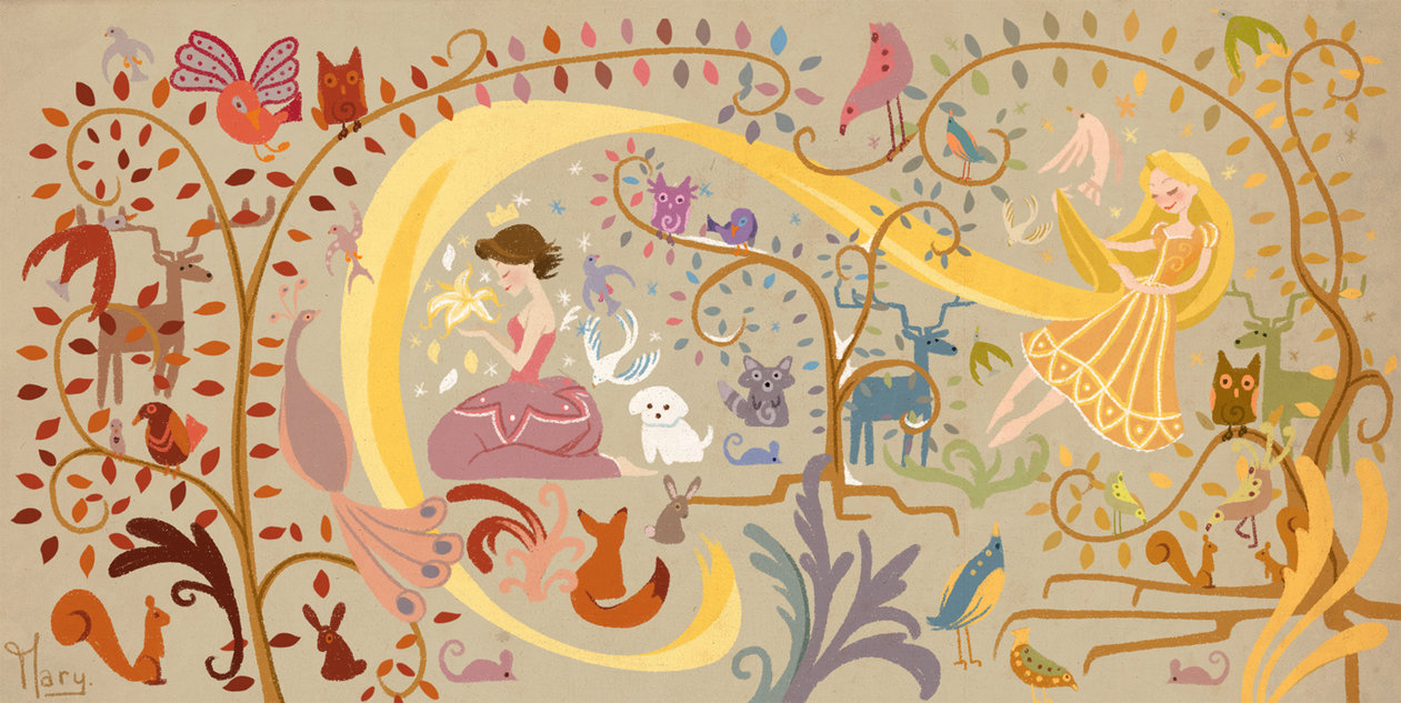 Tangled Wall Mural Image collections home design wall stickers