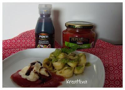 peperoni e parmigiano reggiano con glassa aceto balsamico