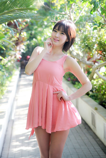 1 Choi Byeol Ha in Pink -Very cute asian girl - girlcute4u.blogspot.com