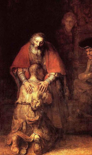 O retorno do filho pródigo. Rembrandt Harmensz van Rijn (1606 – 1669). Museu do Ermitage, São Petersburgo.