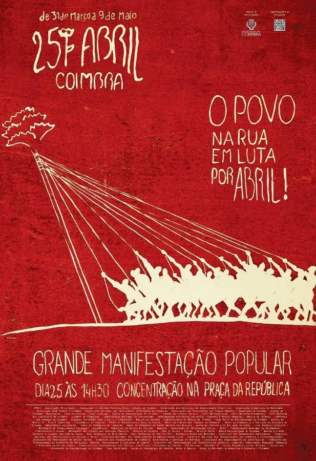 Coimbra, comemorações do 25 Abril