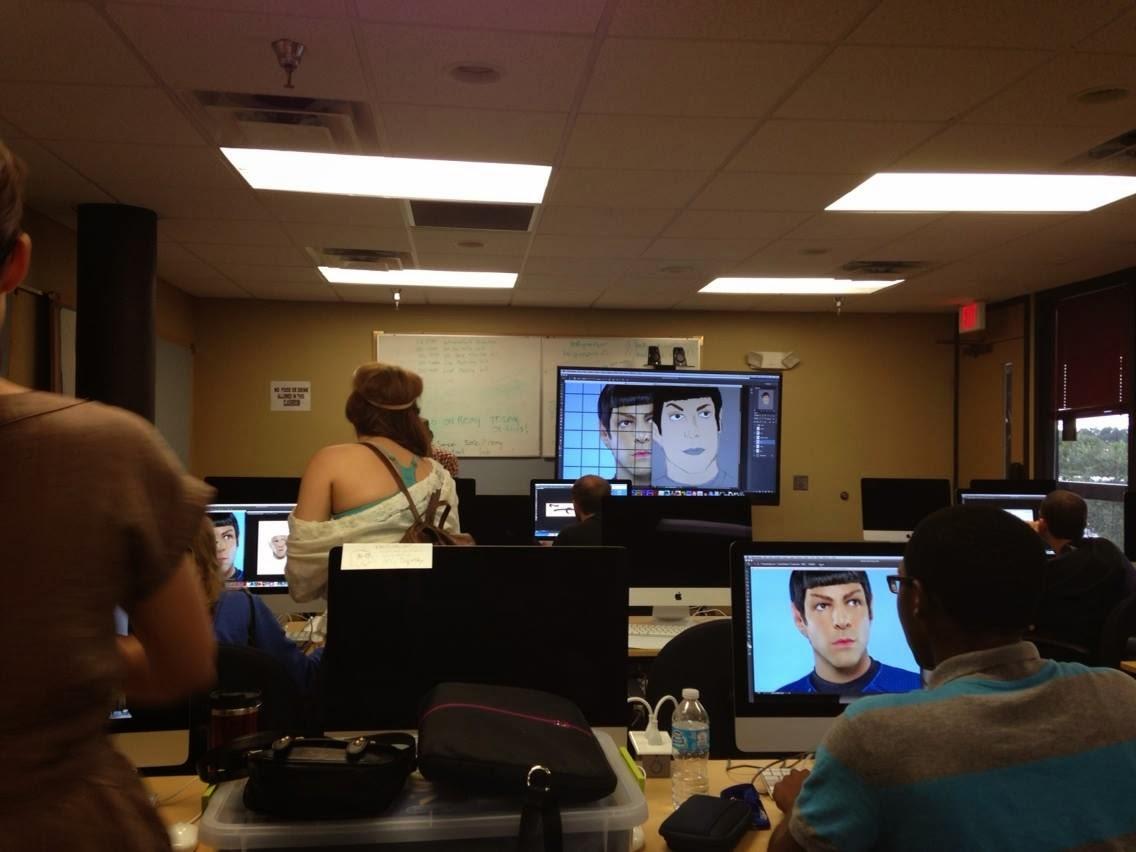 Josh's Art Blog: Spock Portrait Tablet Class