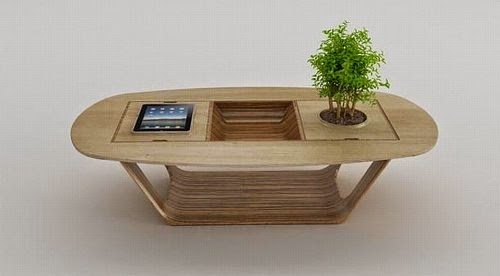 modern wooden modular hight tech coffee table by roberto delponte