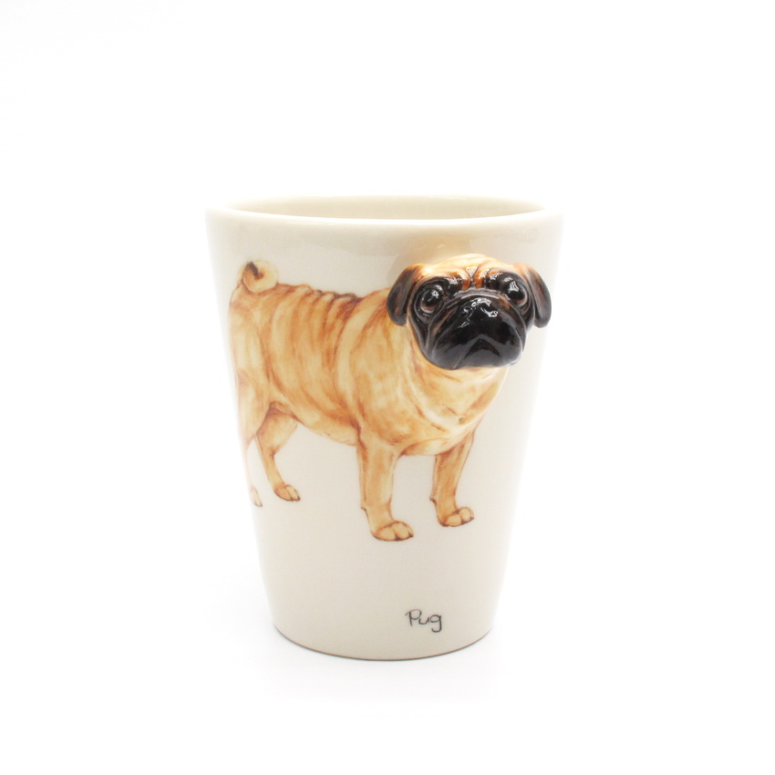 Fawn Pug MUG Ceramic Coffee Cup Original hand sculpt and hand paint ...: dogmugs.blogspot.com/2011/12/pug-lover-mug-00003.html