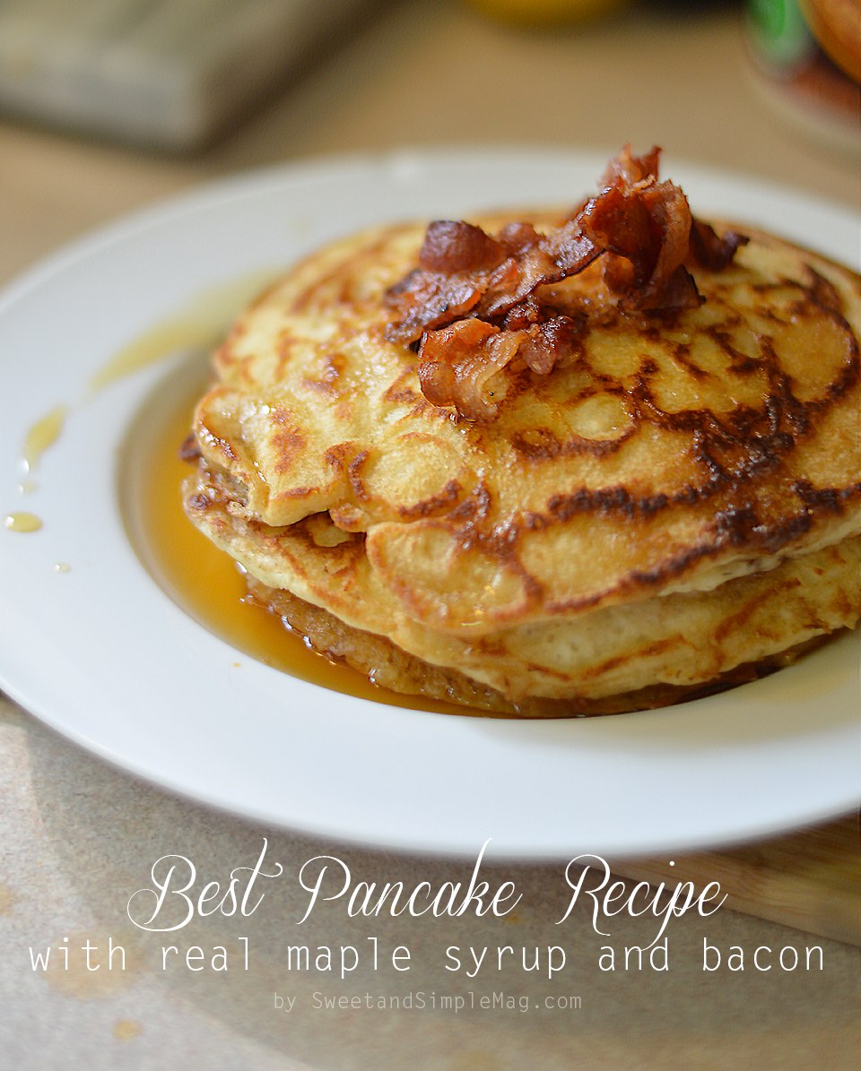Easy sweet pancake recipe pancake katherine for Award winning pancake recipe