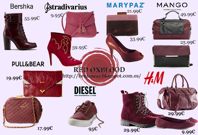 Oxblood color brujaness brujaness's workshop blog red brown mango bershka marypaz