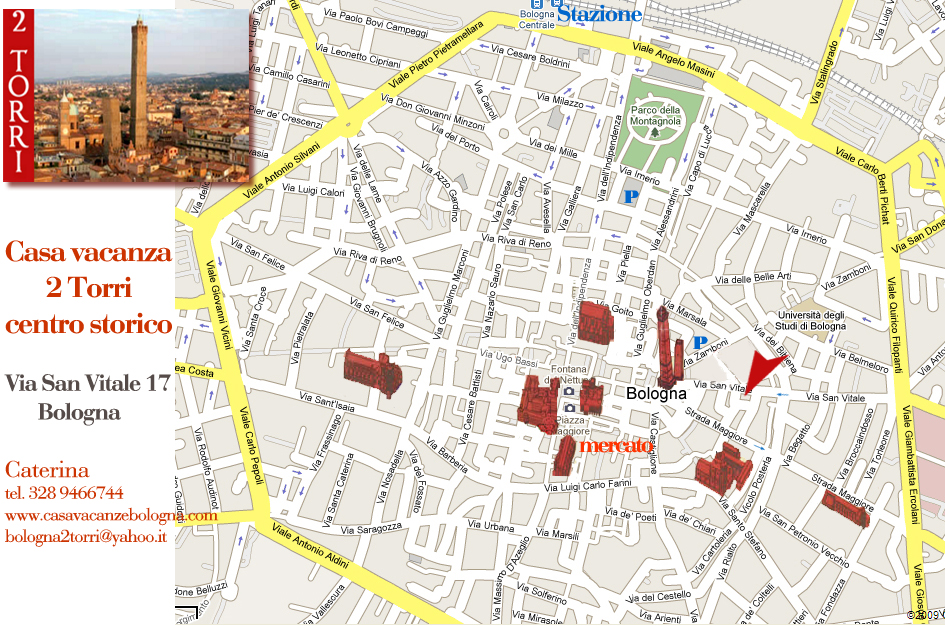 Casa vacanza 2 torri nel centro di bologna appartamento for Design della mappa di casa