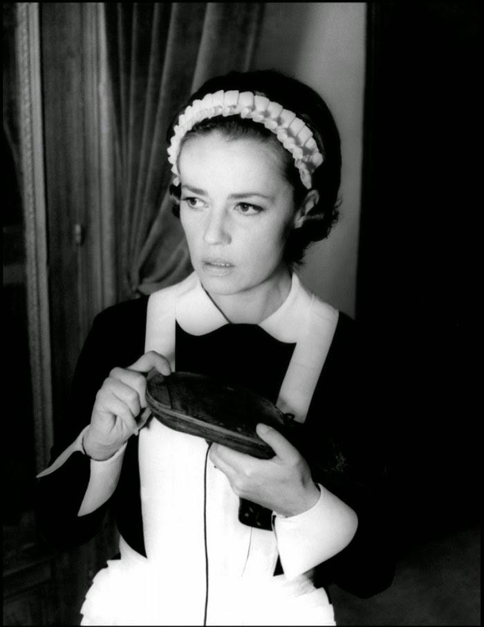 Jeanne Moreau dans Journal d'une femme de chambre, de Luis Bunuel (1964)
