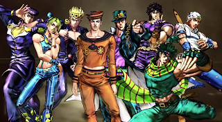 All eight JoJos from JoJo All-Star Battle