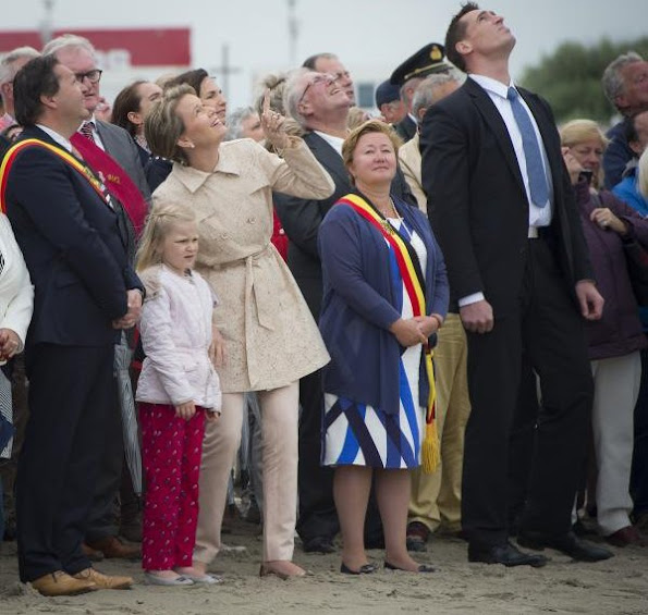 Queen Mathilde of Belgium and her youngest daughter Princess Eleonore attended the annual 'Sea Blessing' an catholic mass