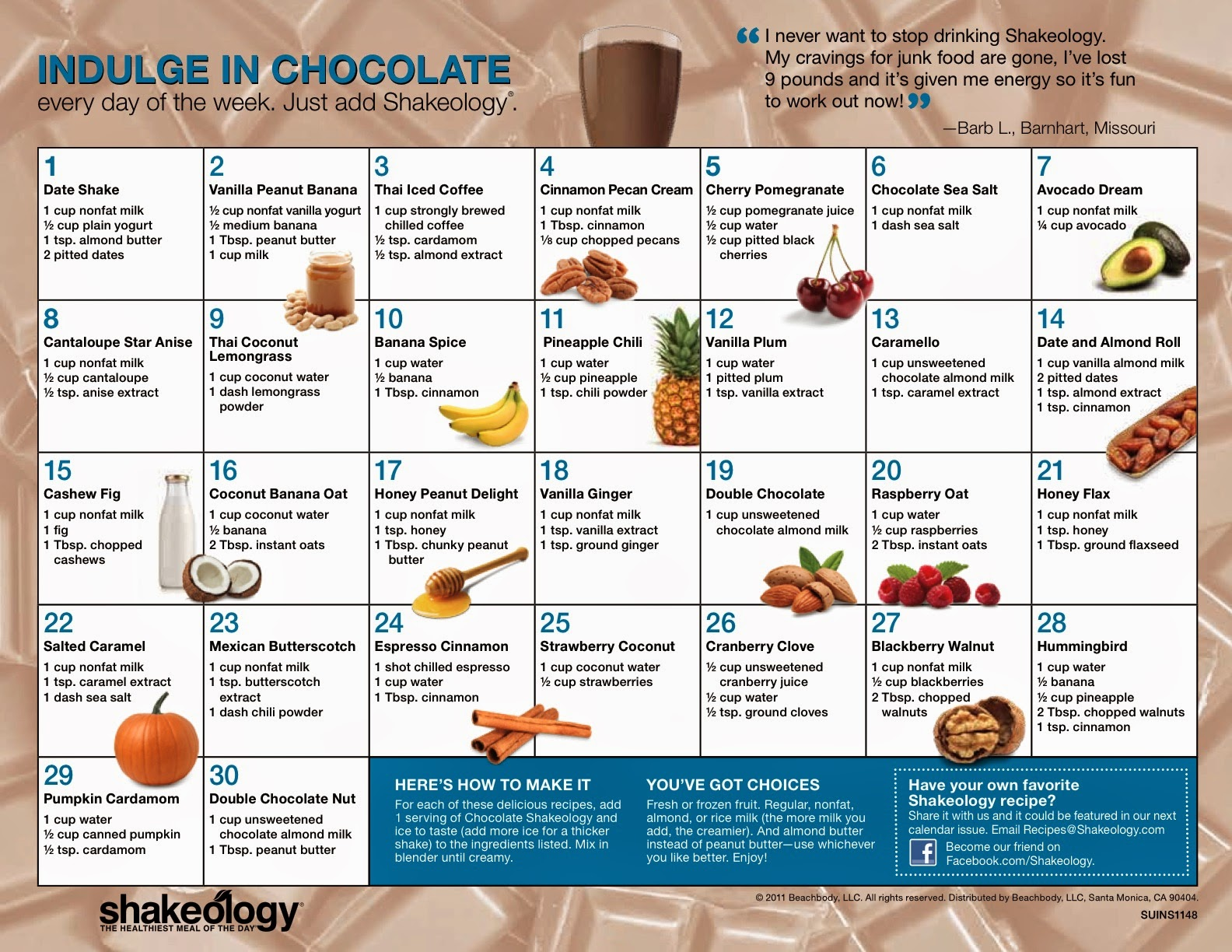 Double Chocolate Peanut Butter Shakeology - Chocolate Shakeology Recipes - Shakeology Samples