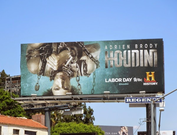 Houdini mini-series premiere billboard