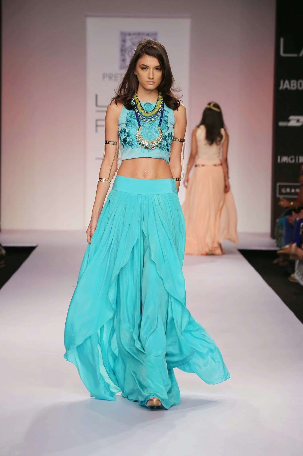 "Inspired by royalty, Preetika and Heeresh Zagjivan's collection ""Egyptian Princess"" for their label ""Pretty Stoned"" was a medley of colour, glamour and style at Lakmé Fashion Week Summer/Resort 2014."