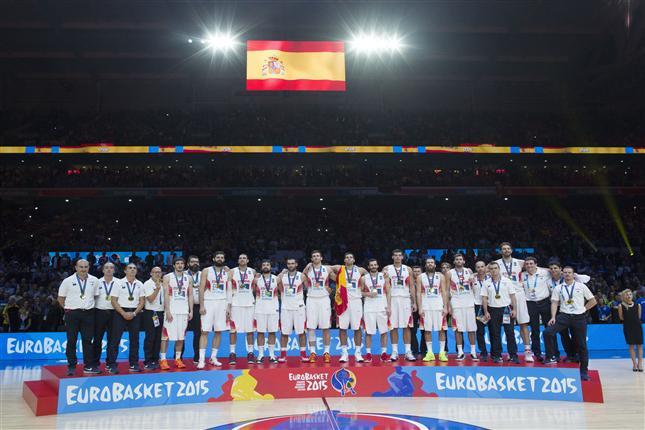 Selección española de baloncesto campeona Eurobasket 2015