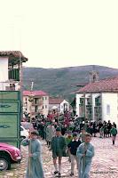 Inicio hacia la calle de la Regadera de la procesion en Candelario Salamanca