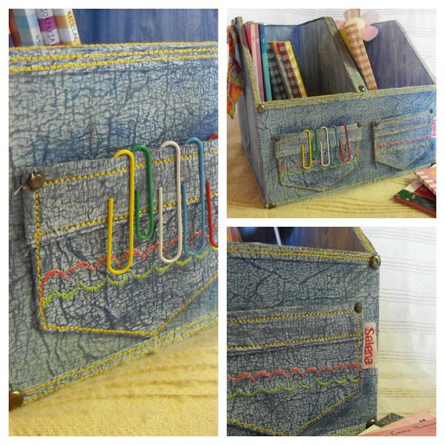 Manualidades: Ordenador con pátina jean