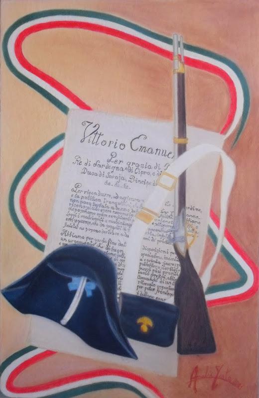 """Opera dal titolo: """"Dedicato all'arma dei Carabinieri """""""