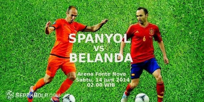Hasil Piala Dunia 2014 Spanyol Vs Belanda Tadi Malam