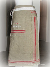 vintage mangle cloth apron