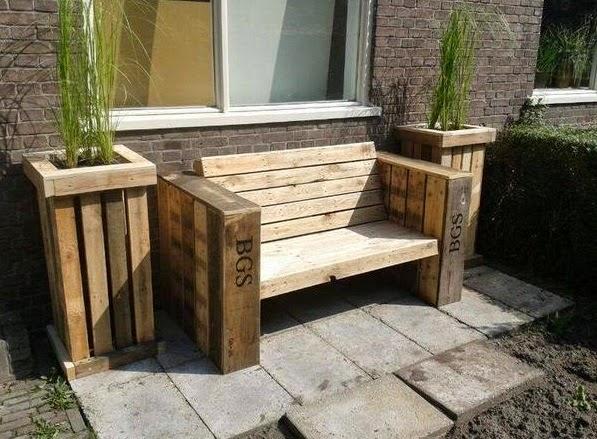 Palets y reciclaje muebles e ideas para for Muebles de jardin con palets reciclados